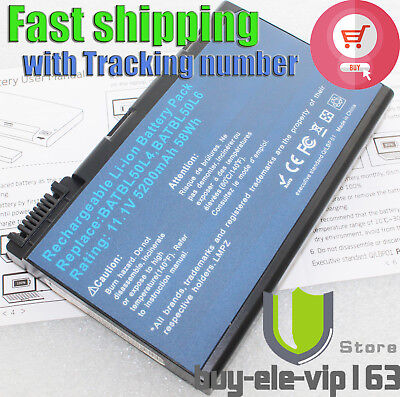6Cell New Battery For Acer Aspire 3100 5110 9110 3690 5515 3650 batterie batería