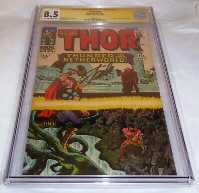 Thor #130 CGC SS Signature Autograph STAN LEE Hercules Pluto Appearance Comic 🔥
