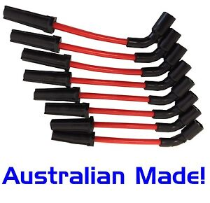 Ignition Spark Plug Leads 10mm Holden Gen3 V8 5.7L Commodore VT VX VY VZ Red