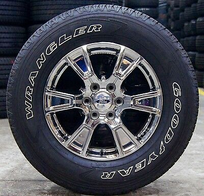 "2004 Ford F150 Bolt Pattern >> 2016 Chrome Ford F150 18"" Factory Wheels Rims Tires Expedition Navigator 2004-16 