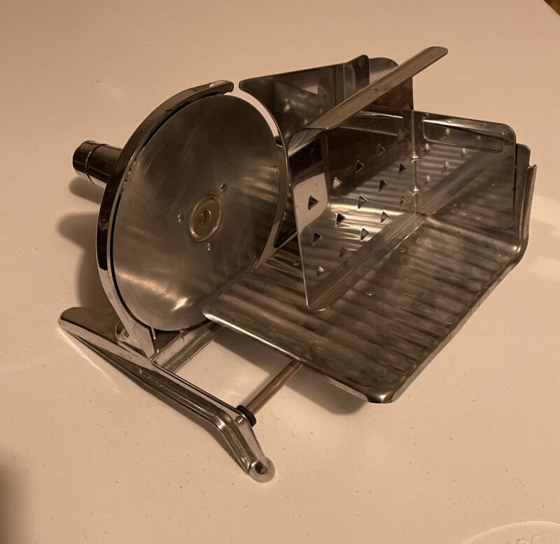 Vintage Meat Slicer International Appliance Corp Brooklyn,NY Manual Hand Cranked