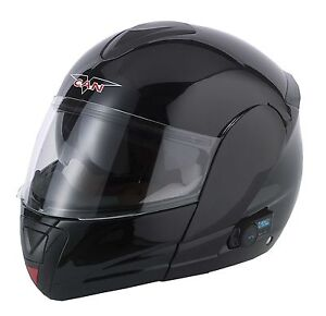 V-CAN BLINC 5 BLUETOOTH FLIP FRONT MOTORCYCLE MOTORBIKE HELMET MP3 SATNAV BLINK
