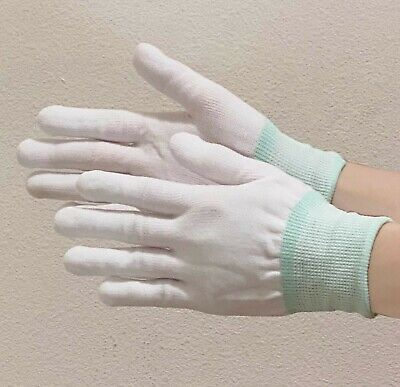 10 Pair White Inspection Cotton Gloves Coin Jewelry High Quality Sz Small
