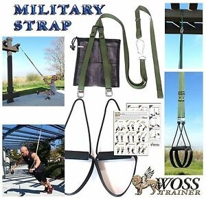 WOSS-Military-Olive-Drab-Trainer-Made-In-US-Suspension-Home-Gym-Training