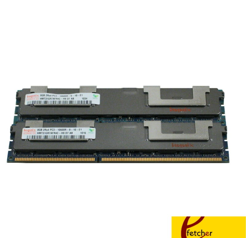 16GB(2X8GB) Memory DDR3 PC3-10600 ECC REG Compat to Dell A3078601 SNPX3R5MC/8G