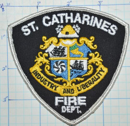 CANADA, ST CATHARINES FIRE DEPT PATCH