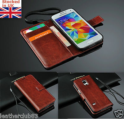 Samsung Galaxy S4 I9500 Leather Flip Wallet Case Cover Magnet Flap ()