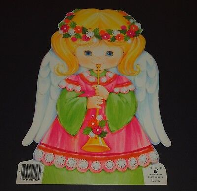 Vintage Christmas DIE CUT OUT Card Stock Decoration ANGEL 8