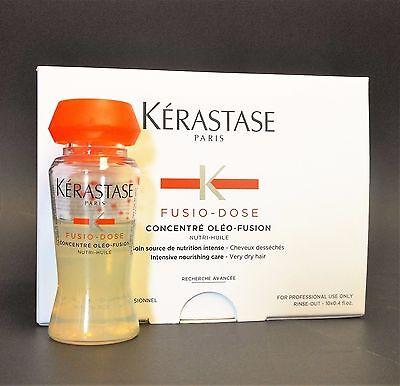 KERASTASE FUSIO DOSE CONCENTRE OLEO FUSION BOX 10 x 12ml VIALS, WITH SPRAYER