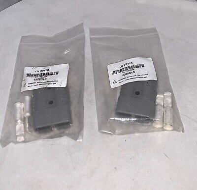 (2)Genuine Anderson Power Products SB Connector Assembly Plug APP 6325G1G