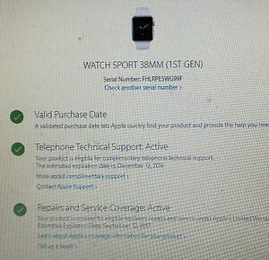 Apple Watch 38mm with warranty  till September 2017 London Ontario image 3