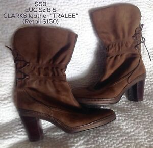 EUC Clarks leather Artisan 'TRALEE' boots