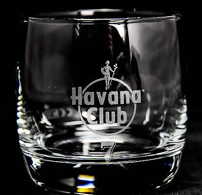 "Havana Club Rum Glas / Gläser, Tumbler ""Anejo 7 Anos"" ohne Bodenprägung"