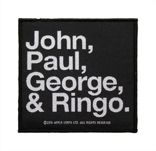 The Beatles John Paul George Ringo Woven Sew On Patch - Licensed 077-F