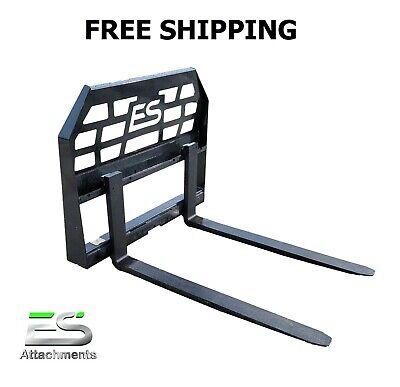 42 Es Pallet Fork Attachment Skid Steer Quick Attach Mount Free Shipping