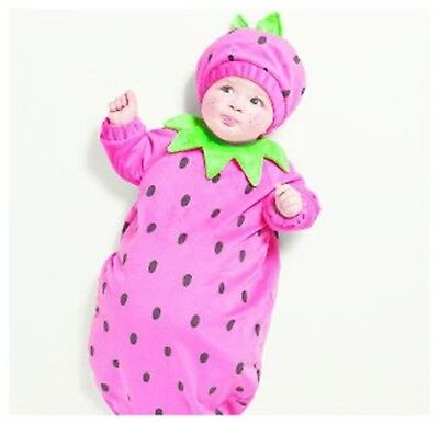 Hyde & Eek Plush Baby Costume Halloween Bunting Strawberry Size 0/6 Months