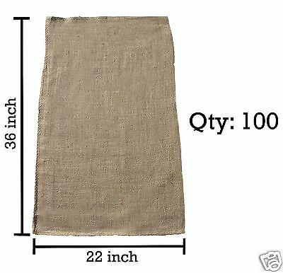 (100) 22x36 Burlap Bags Bulk - Sacks Potato Race Sandbags Home Depot Wholesale