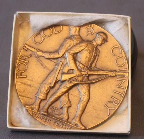 Vintage Medallia Art American Legion School Award, Bronze Medal