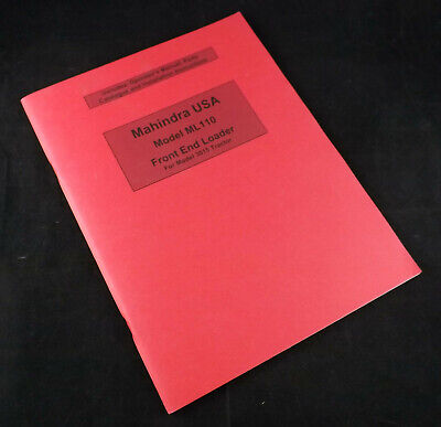 Mahindra Ml110 Front End Loader Operators Manual-parts Catalog-installation Inst