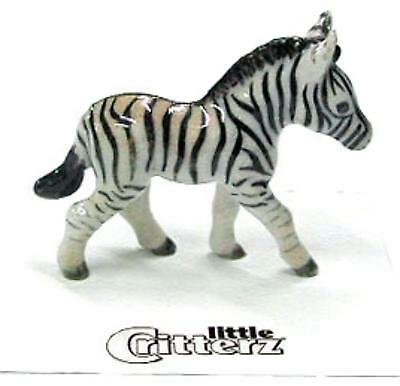 "Little Critterz Miniature Porcelain Animal Figure Zebra ""Zania"" LC418"