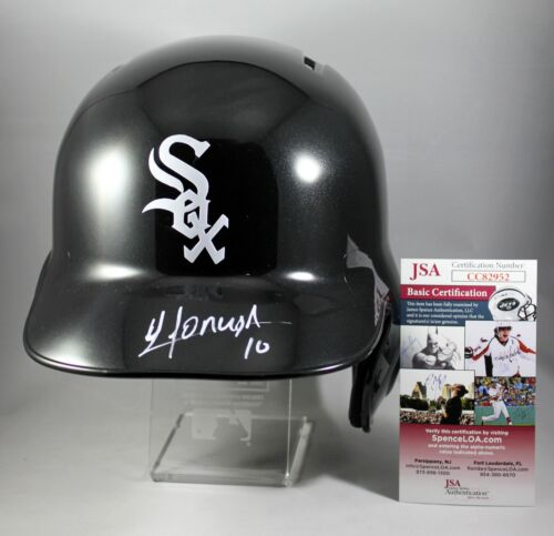 YOAN MONCADA SIGNED FULL-SIZE CHICAGO WHITE SOX BATTING HELMET MLB FS +JSA COA