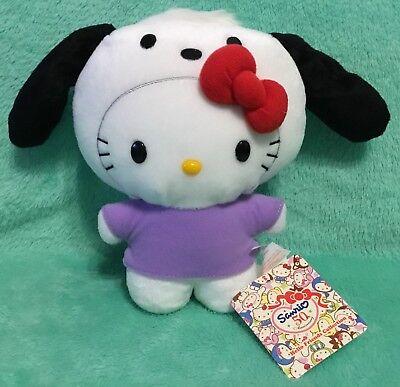 NEW Sanrio Hello Kitty Plush In Pochacco Costume 50th Anniversary - Dog Smurf Costume