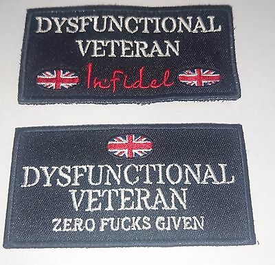 Dysfunctional Veterans UK, Zero F*cks Given and Infidel Patch