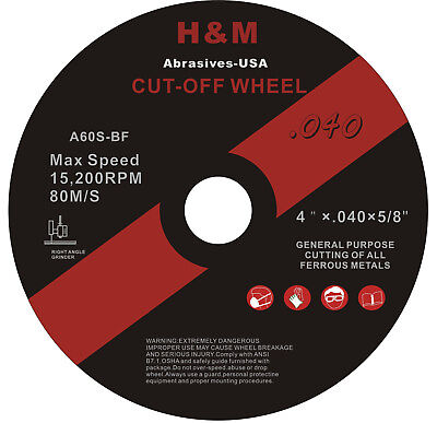 50pcs 4 X .040 X 58 Stainless Steel Metal Cut-off Wheel Cutting Disc