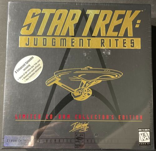 Star Trek Judgment Rites Limited CD-Rom Collectors Edition 1995 FS NEW