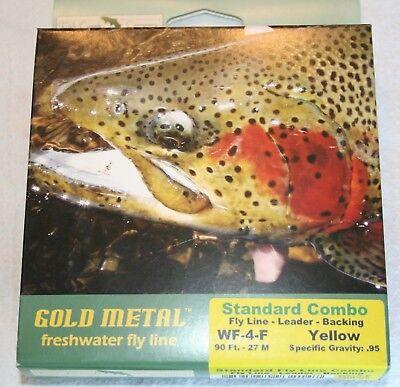FISH CREEK GOLD MEDAL COMBO KIT / WF-4-F FLY LINE, BACKING, LEADER - SALE! - Gold Medal Combo
