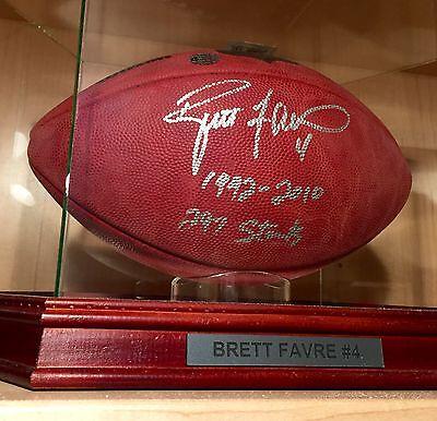 Brett Favre 297 Signed Official Wilson NFL Leather Game Football COA Packers HOF