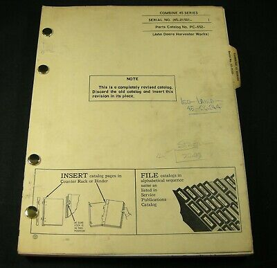 John Deere 45 Series Combine Harvester Self Propelled Parts Manual Book