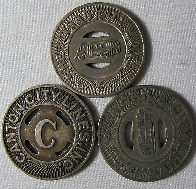 Sheboygan Wisconsin Mobile Alabama Canton Ohio Transit Tokens Lot  whotoldya