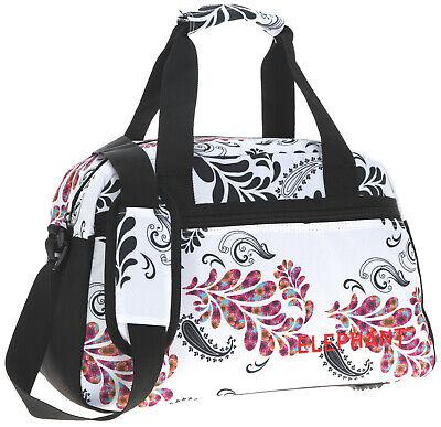 Sporttasche Damen Floral Elephant M 40 cm Sport Tasche Reisetasche 3772 Weiss