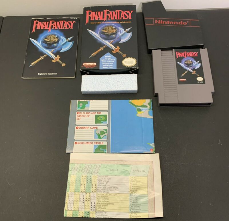 Final Fantasy (Nintendo NES, 1990) Complete CIB Tested and Authentic