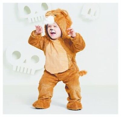 Hyde & Eek Lion Plush Toddler Costume Halloween Dress Up Jumpsuit Size 4T/5T - Lion Toddler Halloween Costumes