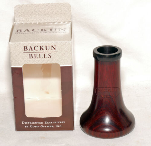 Backun Traditional Cocobolo Bb clarinet bell with voicing groove L07300 - in box
