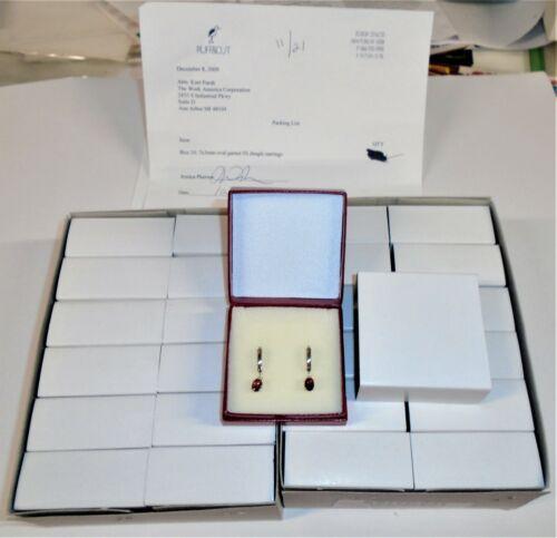 WHOLESALE LOT  Oval RED Garnet 7x5 Dangle Leverback Earrings