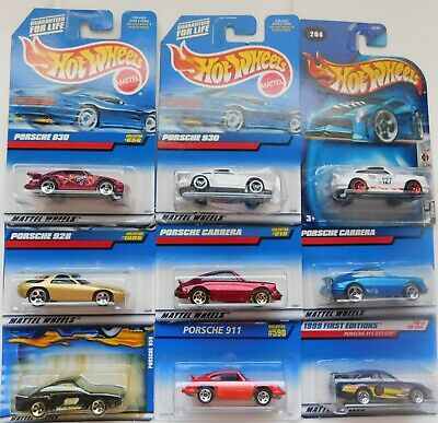 LOT OF NINE HOTWHEELS PORSCHE THEY ARE  3 CARRERA, 2 911, 2 930, 1 928 AND 1 959