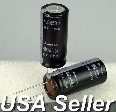 150uf 400v Rubycon Axw Series Electrolytic Capacitors 105c 2 5pcs Usa Shipping
