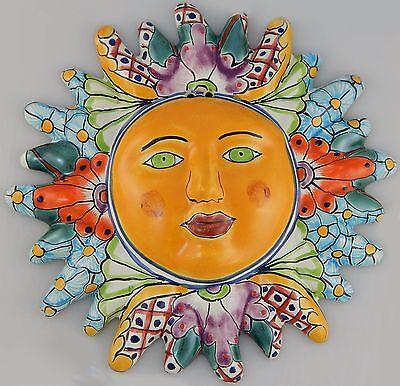 Mexican Talavera  Ceramic Sun Face Wall Decor Hanging Pottery Folk Art  # 15