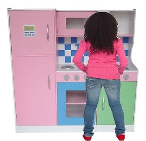 Bebe-Style-Large-Pastel-Wooden-Kitchen-Supreme-Boys-Girls-Chefs-Food-Role-Play