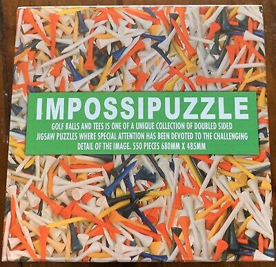 IMPOSSIPUZZLE Double-sided 550 pc Jigsaw Puzzle Golf Balls Tees 2 in 1 Complete