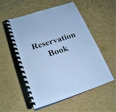 Dinner Reservation Book For Restaurant Or Cafe Soft Cover 150 Pages