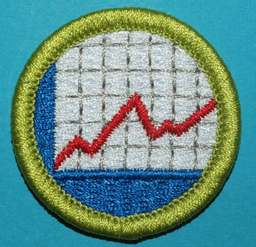 AMERICAN BUSINESS TYPE L MERIT BADGE - NEW - SINCE 1910 BACK - BOY SCOUTS - Y257