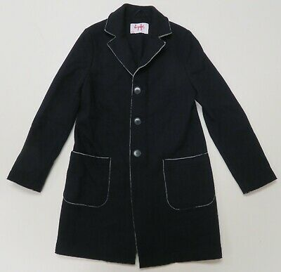 Il Gufo Blue Jacket Wool Cashmere Blend Italy Sz 10 Youth Knit Peacoat