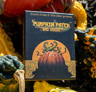Pumpkin Patch Bad Seeds tabletop card game! With signed card! NEW Halloween