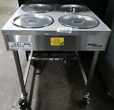 Belshaw Hi-4 Bowl Icing Heated Icing Warmer Donut Glazing Table
