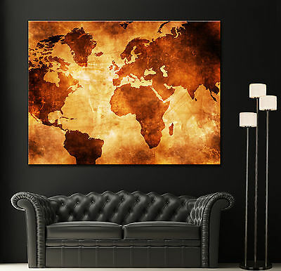 Vintage Giclee Canvas (Canvas Giclee Home Wall Prints Vintage Old World Map Print Color Picture 2 1)