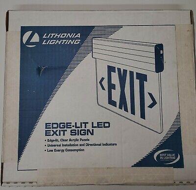 Lithonia Lighting Edge Lit Led Exit Sign Red